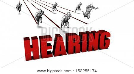 Better Hearing with a Business Team Racing Concept 3d Illustration Render