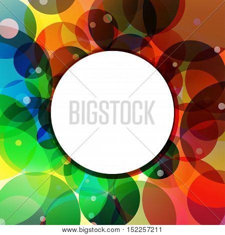 Rainbow circles background feeling of the jungle. Rainbow Circle Border Brush Effect.