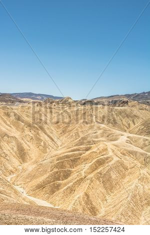 View of Badland formation at Zabriskie Point, Death Valley National Park, California