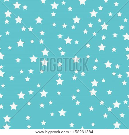 Seamless Pattern With White Stars On A Blue Background
