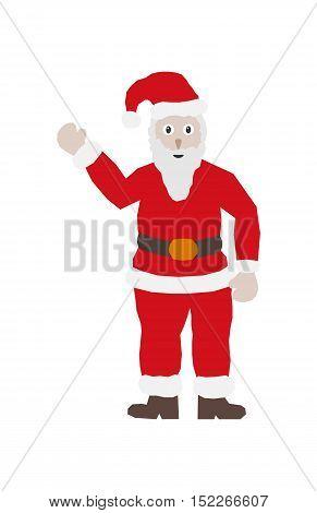 Santa Claus In Classic Red Dress