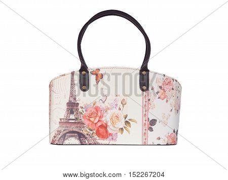 vintage handbags  isolated on white background. beautiful  handbags.