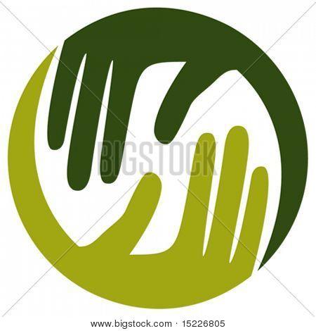 Natuurlijke Zorg handen ontwerp.