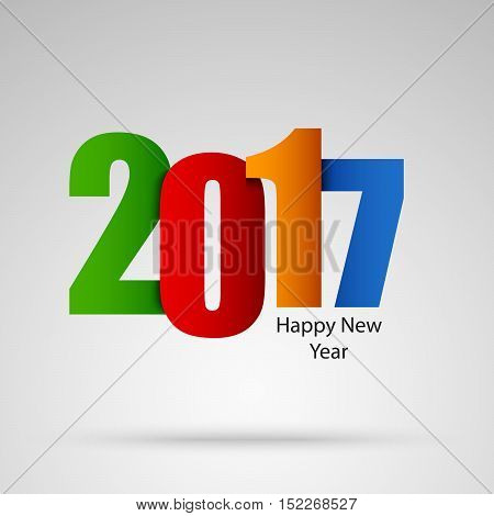 New Year card with colored numbers design template vector eps 10