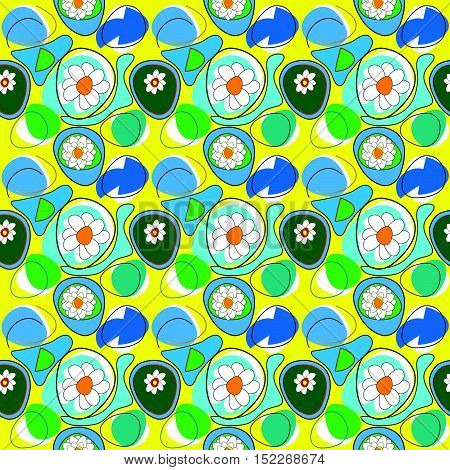 dry lake with water lilies on dry season (pattern)