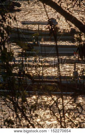 Padang Bai Fishermen Boat At Sundown