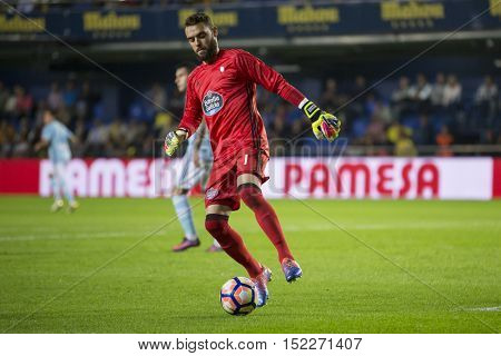 VILLARREAL, SPAIN - OCTOBER 16th: Sergio during La Liga soccer match between Villarreal CF and R.C. Celta de Vigo at El Madrigal Stadium on October 16, 2016 in Villarreal, Spain