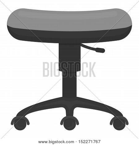 Chair rolling icon monochrome. Single tattoo icon from the big studio monochrome.