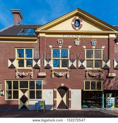 Delft, Netherlands - April 4, 2008: The Building Guild Of St. Luke