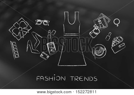 Fashion Shopping: Dress & Mixed Accessories