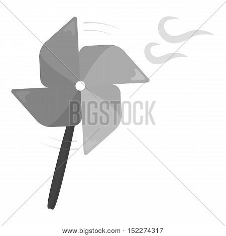 Toy windmill monochrome icon. Illustration for web and mobile.