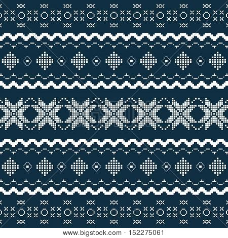 Nordic Knitted Seamless Pattern.