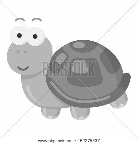 Turtle icon in monochrome style isolated on white background. Toys one symbol vector illustration.