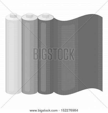 Color printing paper in monochrome style isolated on white background. Typography symbol vector illustration.