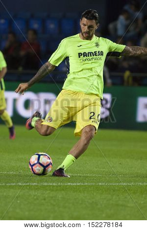 VILLARREAL, SPAIN - OCTOBER 16th: Soriano during La Liga soccer match between Villarreal CF and R.C. Celta de Vigo at El Madrigal Stadium on October 16, 2016 in Villarreal, Spain