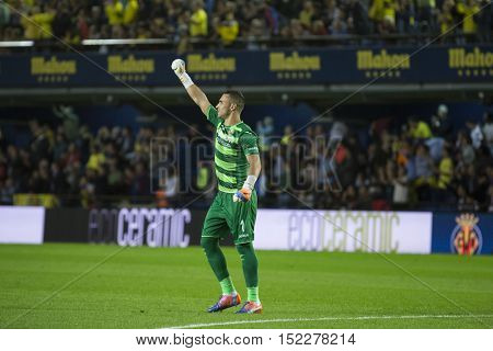 VILLARREAL, SPAIN - OCTOBER 16th: Asenjo during La Liga soccer match between Villarreal CF and R.C. Celta de Vigo at El Madrigal Stadium on October 16, 2016 in Villarreal, Spain
