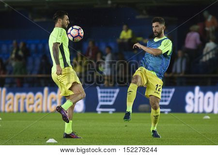 VILLARREAL, SPAIN - OCTOBER 16th: 12 Alvaro during La Liga soccer match between Villarreal CF and R.C. Celta de Vigo at El Madrigal Stadium on October 16, 2016 in Villarreal, Spain