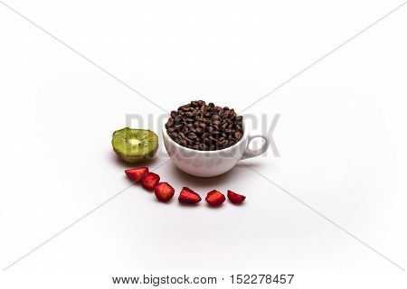 Coffee Beans Kiwi And Strawberry