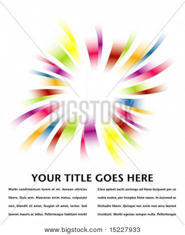 Arco-íris estouram design com espaço de cópia.