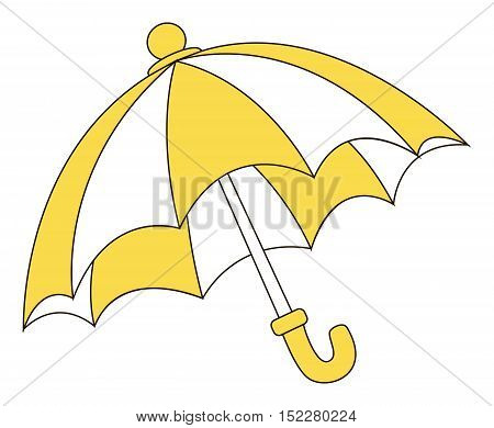 Vector illustrtion of the yellow stylish umbrella