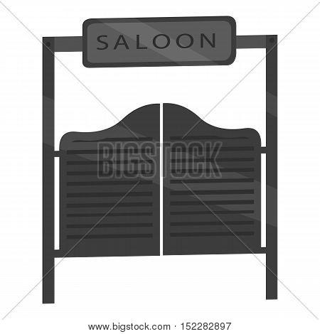Saloon icon monochrome. Singe western icon from the wild west monochrome.