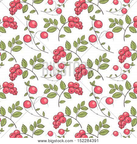 Pattern of forest berries for scrapbooking, textiles and materials