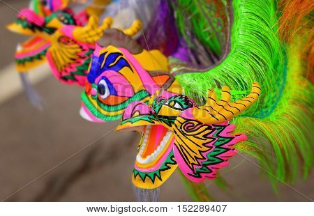 Colorful Dragon Plastic Toy