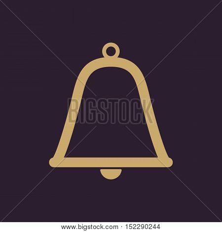 The bell icon. Alert symbol. Flat Vector illustration