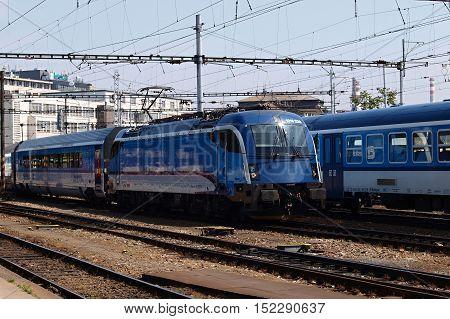 Electric locomotive station Brunn in Czech republic