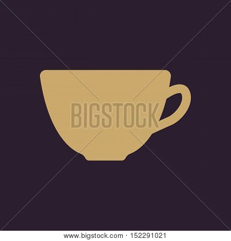 The cup icon. Tea symbol. Flat Vector illustration