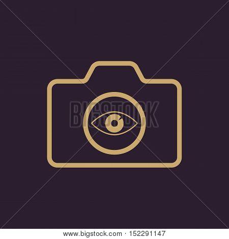 The camera icon. Photo symbol. Flat Vector illustration
