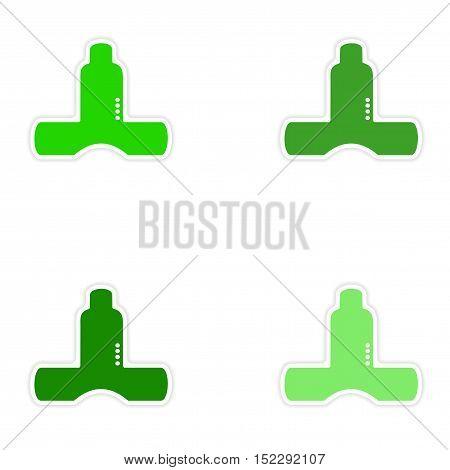 assembly realistic sticker design on paper kitchen ventilation