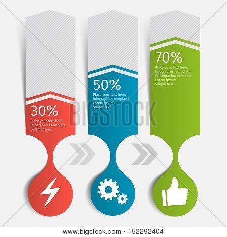 Modern infographic chart. Template for presentation. Vector illustration