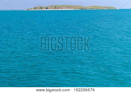 Beautiful Andaman sea with blue sky on vacation and sunlight background