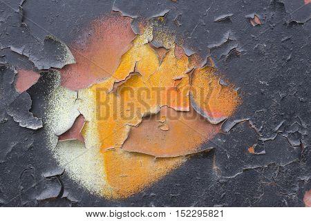Painted Metal Plate