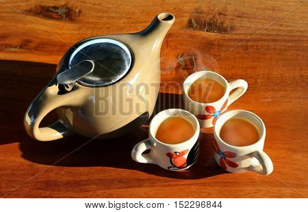 The Lighting And Shadow Of Morning Tea Time