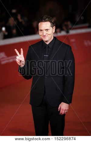Rome Italy - October 17 2016: Matt Ross walks a red carpet for 'Captain Fantastic' during the 11th Rome Film Festival at Auditorium Parco Della Musica.