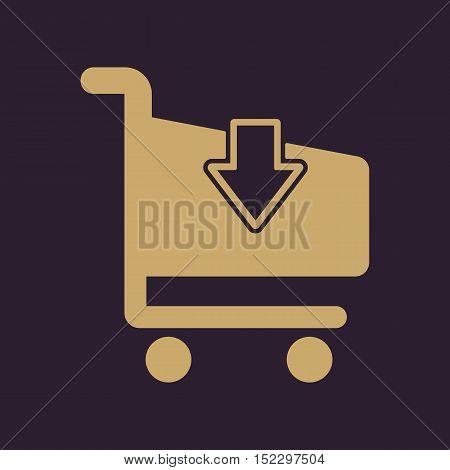 The cart shoping icon. Shop Cart symbol. Flat Vector illustration