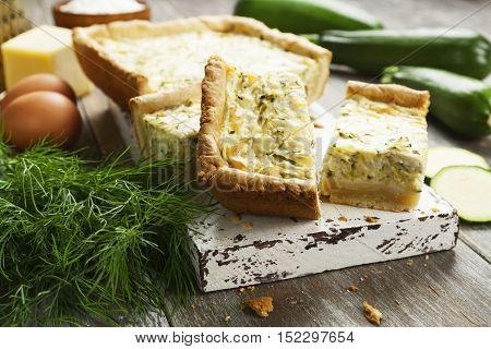 Pie With Zucchini And Herbs