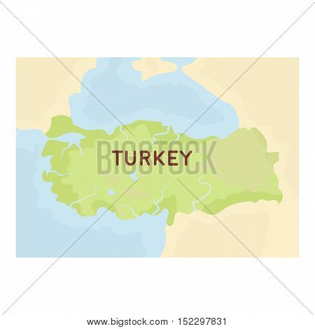 Territory of Turkey icon in cartoon style isolated on white background. Turkey symbol vector illustration.