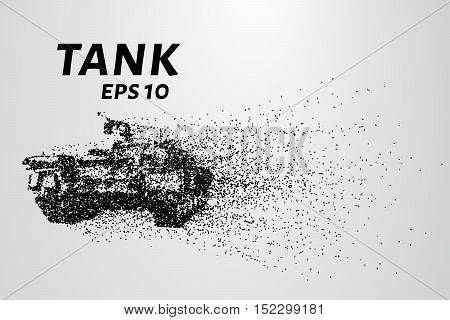 The tank of particles. The tank consists of small circles.