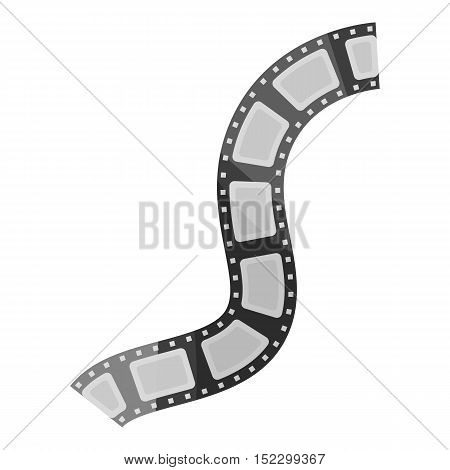 Film stock icon in cartoon style isolated on white background. Films and cinema symbol vector illustration.