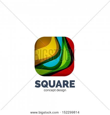 abstract square logo, business icon