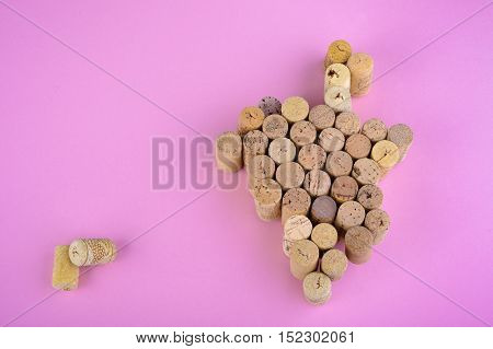 Wine Corks On Pink