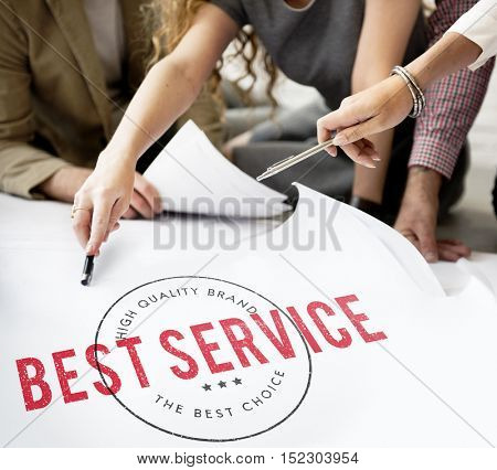 Business People Best Service Concept