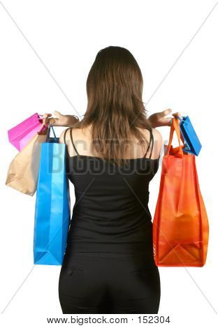 Business Woman With Shopping Bags - Sally