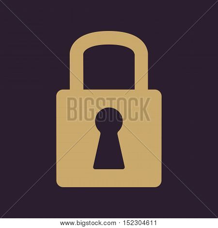 The lock icon. Lock symbol. Flat Vector illustration