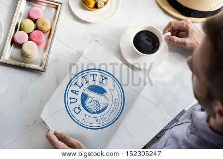 High Quality Guarantee Badge Logo Premium Concept