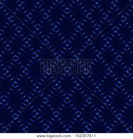 Diamond royal blue grid neon vector background
