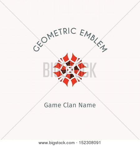 Geometric logo template. Vector modern symbol or emblem